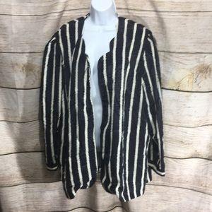 CB Collection 20 WP navy cream stripe jacket